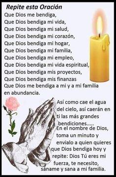 Holy Spirit Prayer, God Prayer, Daily Prayer, Spiritual Prayers, Prayers For Healing, Catholic Prayers In Spanish, Money Prayer, Good Night Flowers, Archangel Prayers