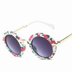 69b4af91fd Boy s Round Sunglasses 100% UV 400 Anti-UV Vintage