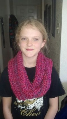 The very first infinity scarf I crocheted.