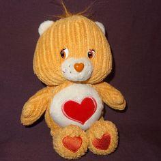 "Tenderheart Bear Corduroy Care Bears Stuffed Plush Animal 8"" 2003 Tan #CareBears #AllOccasion"