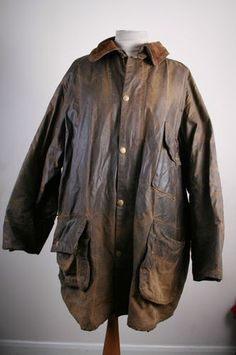 358aa9f9b4c VINTAGE RARE YELLOW LABEL SOUTH SHIELDS SOUTHSHIELDS BARBOUR WAX JACKET