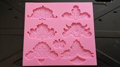silicone snowflake mold, fondant mold, gum-paste mold, cake mold, polymer clay mold, resin mold