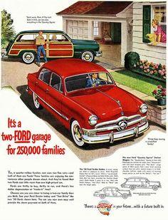 2 Ford car garage 1950