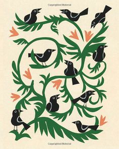 christian robinson - birds, paper cut-out, 2011 Happy Bird Day, Christian Robinson, Bird Art, Art Forms, Screen Printing, Art Projects, Contemporary Art, Illustration Art, Drawings