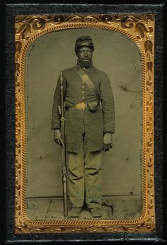 Portraits of African American Civil War soldiers, c. 1863, Chicago, Illinois. Photographs by unknown. > Purchase a copy of iChi-22172 (the middle right photo) Want a copy of the other photos? > Visit....