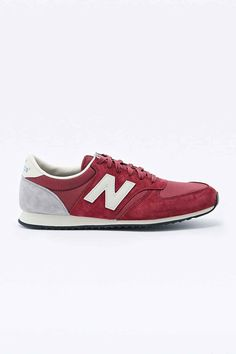 Can't get enough of this.. :)  New Balance 420 Suede Runner Trainers in Burgundy