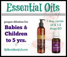 Proper Essential Oil Dilution for Babies and Children