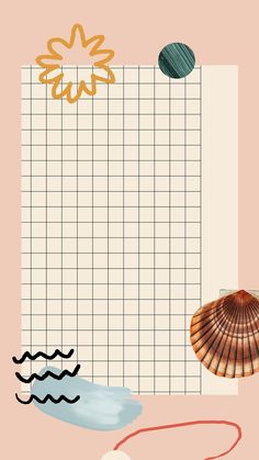 Download premium vector of Clam shell pattern on grid mobile phone