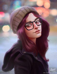 ArtStation - Hipster Girl, Amanda Duarte