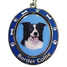 Border Collie Dog Spinning Keychain