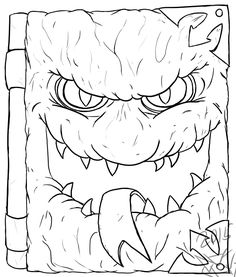 Book of Monsters Coloring Page by AgentWerehog.deviantart.com on @DeviantArt