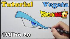 Como Desenhar Olho do Vegeta Nova Transformação - How to Draw Eye of Vegeta