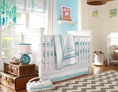 I love the Pottery Barn Kids Harper Aqua on potterybarnkids.com
