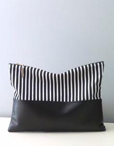 Clutch / Oversize Clutch Bag /  Fold over Clutch by bettyscorner