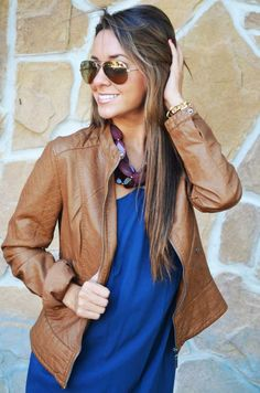 Camel Leather Jacket, ohhh how I desire this to be present in my ...
