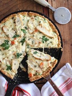 copf:  Chicken Pot Pie Pizza itt: We Heart It.