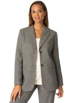 Plus Size Wool Blazer