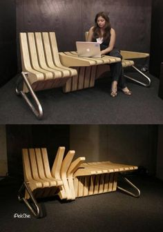 Stylish Multifunctional Coffee Bench - by Karolina Tylka    Simply brilliant! :]