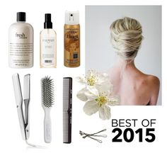 """""""Best Hair 2015"""" by dezaval ❤ liked on Polyvore featuring beauty, philosophy, T3, Kent, Balmain, L'Oréal Paris and BOBBY"""