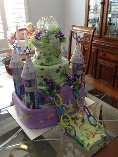 Tinker Bell Castle Diaper Cake