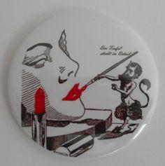 Button 59 mm  Taschenspiegel von AnnKara's Queerbeet-Shop auf DaWanda.com