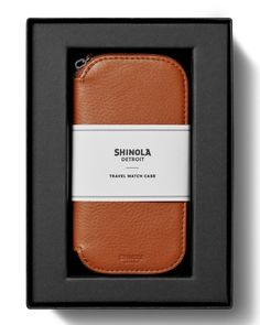 9dd660e9244 Shinola Men s Travel Watch Case Gift Box Mens Travel