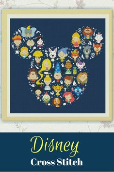 Disney Cross Stitch Pattern, Disney Mickey cross stitch pattern Chart ,Needlecraft Needlework PDF Instant Download,S095 #affiliate #disney