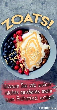 Are you crazy about porridge? Then we can offer you your new favorite breakfast . - Are you crazy about porridge? Then we can introduce you to your new favorite breakfast: ZOATS. Brunch Recipes, Breakfast Recipes, Dessert Recipes, Brunch Food, Zucchini Breakfast, Low Carb Recipes, Healthy Recipes, Peanut Recipes, Breakfast At Tiffanys