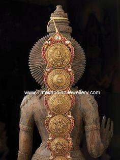 Indian bridal hair accessory.