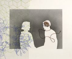 Minna Resnick is a printmaker that has shown both nationally and internationally. Her work in over 50 public and private collections and 25 Universities. Negative Space, Artist Painting, Textile Art, Silhouettes, Printmaking, Anna, Public, Textiles, Portraits