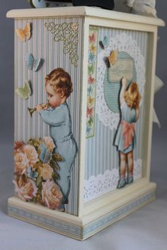 More details of @Arlene Butterflykisses beautiful Little Darlings altered dresser. Love how she fussy cut and used these images! #graphic45
