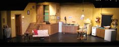 """Set for Beowulf Alley Theatre Company's """"Wait Until Dark"""", directed by Dave Sewell, set design/build by Joel Charles, scenic artist Bill Galbreath"""