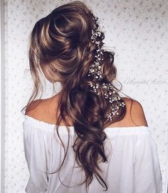 Wedding Updo Hairstyles for Long Hair from Ulyana Aster_07 ❤ See more: http://www.deerpearlflowers.com/wedding-updo-hairstyles-for-long-hair-from-ulyana-aster/
