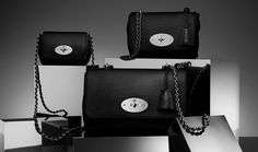Medium Lily in Black Glossy Goat With Silver Tone | Women | Mulberry
