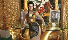 Kendall Jenner Golden Color Dress and Room Wallpaper - HD Wallpapers - Free Wallpapers - Desktop Backgrounds
