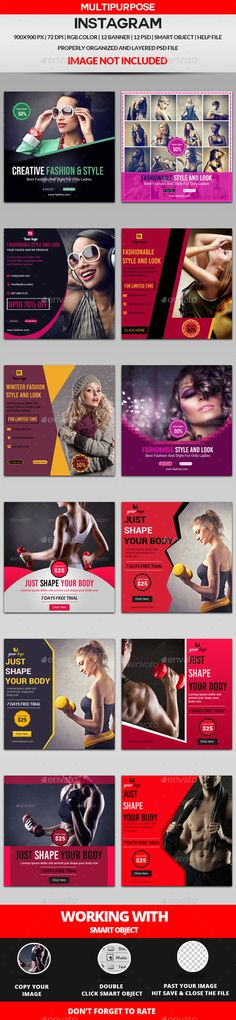 Multipurpose Instagram Bundle-12 Design — Photoshop PSD #promote #new trend • Available here → https://graphicriver.net/item/multipurpose-instagram-bundle12-design/16337580?ref=pxcr