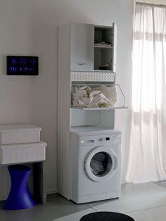 Home Decor Furniture, Furniture Making, Furniture Design, Washing Machine In Kitchen, Laundry Room Design, Bathroom Cabinets, Bathroom Interior, Small Bathroom, Home Appliances