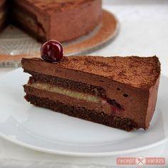 Csokis kaland - Csokis, meggyes, marcipános torta