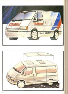 1985 Transit Consept Brochure (very rare) L Ford Transit Camper, Camper Conversion, Glass Roof, Automotive Design, Rear Seat, Drawing Sketches, Hanging Out, First Love, Concept