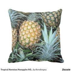 Tropical Hawaiian Pineapples Pillow