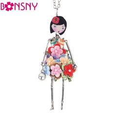 Doll Necklace Dress Trendy Long Chain //Price: $17.99 & FREE Shipping //     #accessories #necklaces #pendants #earrings #rings #bracelets    FREE Shipping Worldwide     Get it here ---> https://www.myladyempire.com/doll-necklace-dress-trendy-long-chain/