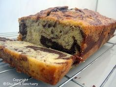black and white banana bread... gonna try it minus the booze