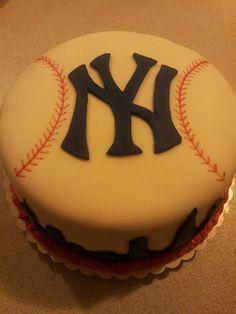 NY Yankees Cake