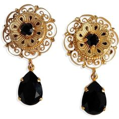 Dolce & Gabbana Earrings (€225) ❤ liked on Polyvore featuring jewelry, earrings, accessories, joias, gold, dolce gabbana jewelry, earring jewelry and dolce gabbana earrings