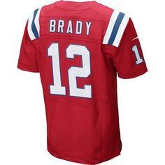 Nike Elite Tom Brady #12 Throwback Jersey-Red