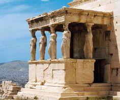 Las famosas Cariátides de ATENAS