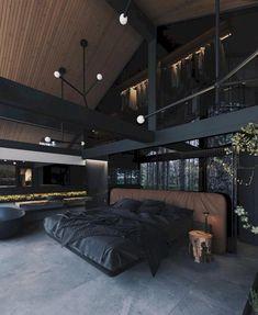 Loft Interior, Black Interior Design, Dream Bedroom, Home Bedroom, Bedroom Ideas, Master Bedroom, Bedroom Makeovers, Kids Bedroom, Modern Bedroom