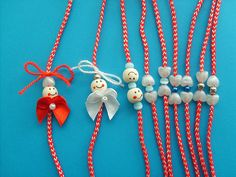 мартеници - Google Search Baba Marta, Diy And Crafts, Crafts For Kids, Pom Pom Crafts, Rakhi, Clay Jewelry, Handmade Bracelets, Beautiful Necklaces, Paper Flowers