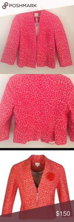 🌹Kaliko🌹Beautiful European jacket 🌹Elegantly styled daisy jacquard peplum  jacket from Kaliko🌹70% cotton: 17% acetate 13% polyester lined with 100% polyester🌹one of the pic from other source🌹NWT Kaliko Jackets & Coats Blazers