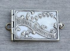 Art Nouveau Silver Plated Carnet de BAL Aide Memoire Notebook Album Souvenir | eBay